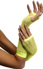 Fishnet Gloves (Yellow)
